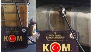 Konya'da bin 65 litre kaçak akaryakıt yakalandı