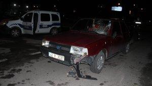 Konya'da otomobil yayaya çarptı: 1 yaralı