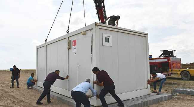 Kulu'da mevsimlik işçiler için konteynerler yerleştirildi