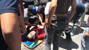 Mardin'de motosiklet ile otomobil çarpıştı: 1 yaralı