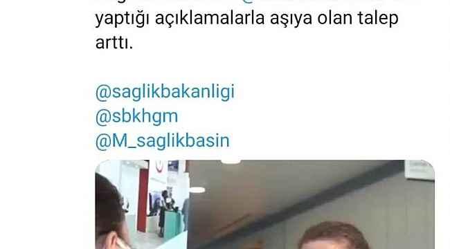 Mersin Şehir Eğitim ve Araştırma Hastanesi çalışanları aşı mutluluğuna mikrofon uzattı