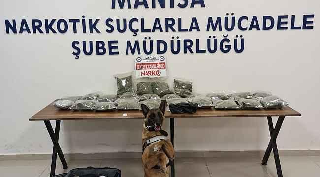 Narkotik köpeği 'Kiraz' 12 kilo bonzai yakaladı