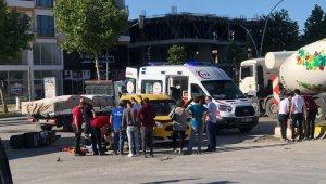 Otomobil ve motosiklet çarpıştı: 1 yaralı