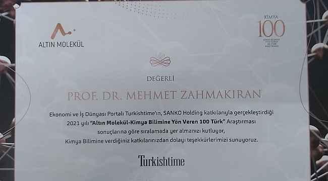 Prof. Dr. Mehmet Zahmakıran'dan bir başarı daha