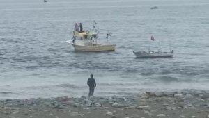 Rize'nin Fındıklı ilçesinde denizde kaybolan Afgan uyruklu genç için arama çalışması başlatıldı