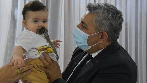 Sadıkoğlu'ndan Çınar bebeğe destek ziyareti