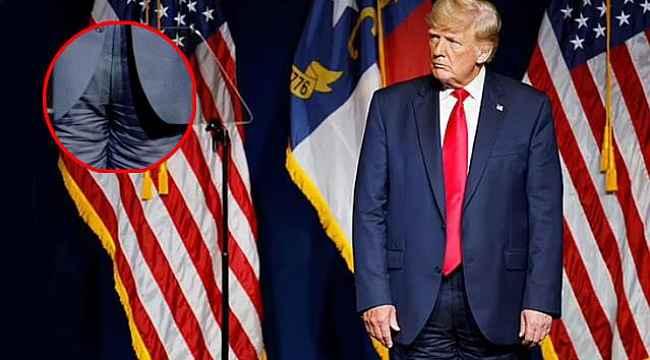 Trump, pantolonunu ters giydi... Dünya bu görüntüleri konuşuyor