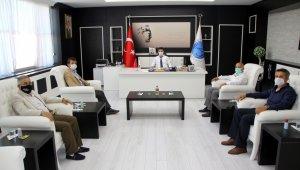 TÜRES Kilis Şube Başkanı Aktaş, Rektör Karacoşkun'la bir araya geldi