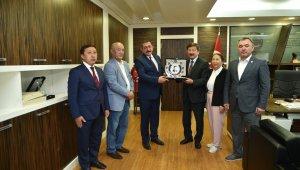 TÜRKSOY Genel Sekreteri Kaseinov'dan Vidinlioğlu'na ziyaret