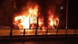 Van'da tır yol ortasında alev alev yandı