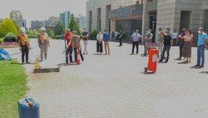 Yenişehir Belediyesi personeline yangın eğitimi verildi