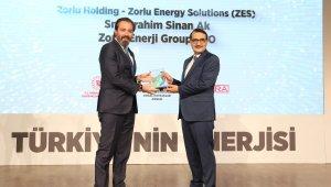 """Zorlu Enerji'nin ZES markası """"Enerjimiz Geleceğimiz"""" ödülünü aldı"""