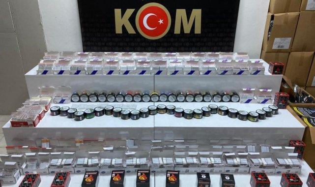 Samsun'da 14 bin 600 adet dolu makaron ele geçirildi