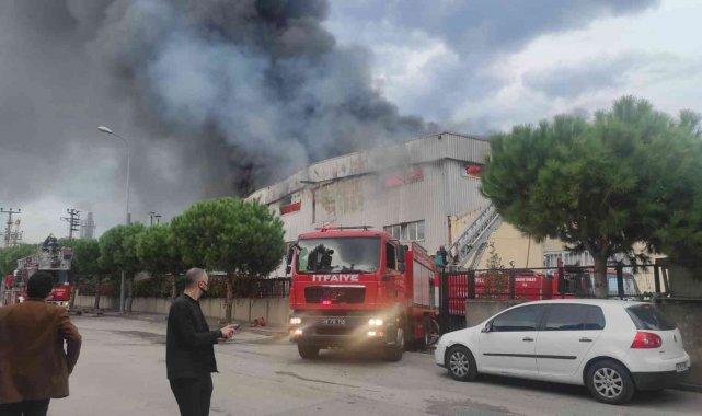 Bursa'da tekstil fabrikasında büyük yangın - Bursa Haberleri