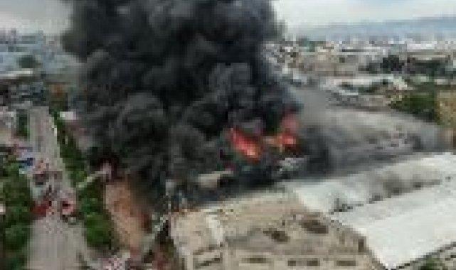 Bursa'da tekstil fabrikasındaki büyük yangın böyle görüntülendi - Bursa Haberleri