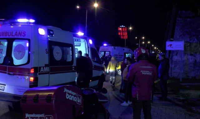 Maltepe'de makas atarak ilerleyen otomobil zincirleme kazaya neden oldu: 3 yaralı
