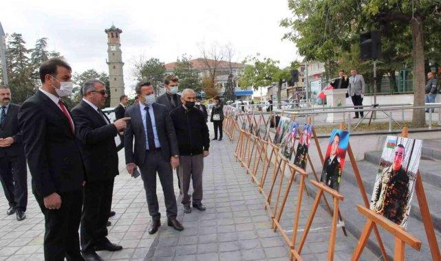 Sungurlu'da Azerbaycanlı şehit askerler sergisi açıldı