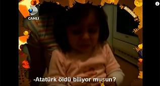 Minik Elif'in hem ağlatan, hem tebessüm ettiren Atatürk sevgisi...