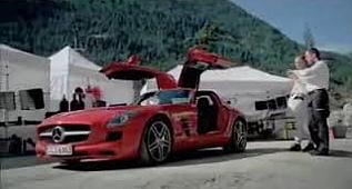 mercedes benz SLS reklamı yok böyle araba